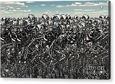 A Large Gathering Of Robots Acrylic Print by Mark Stevenson