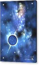 A Large Star With Concentrated Matter Acrylic Print by Corey Ford