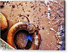 Acrylic Print featuring the photograph A Life Ring by Kelly Reber