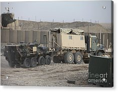 A Light Armored Vehicle Being Towed Acrylic Print