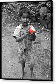 A Little Boy Acrylic Print by Jino Blessil