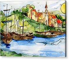 A Little Fisherman's Village Acrylic Print