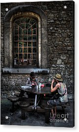 A Little More Conversation Acrylic Print by Yhun Suarez