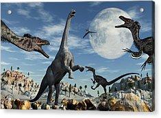 A Lone Camarasaurus Dinosaur Acrylic Print by Mark Stevenson