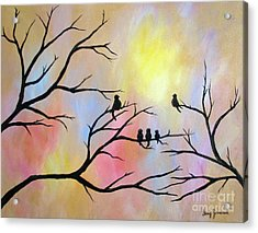 Acrylic Print featuring the painting A Luminous Light by Stacey Zimmerman