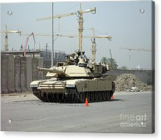 A M1 Abram Sits Out Front Of The New Acrylic Print by Terry Moore