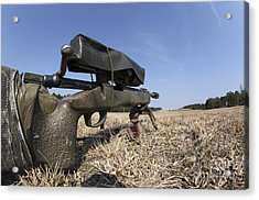 A M40a3 7.62mm Sniper Rifle Sits Ready Acrylic Print