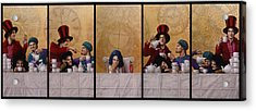 A Mad Tea-party From Alice In Wonderland Acrylic Print by Jose Luis Munoz Luque