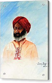 A Man From Rajsthan Acrylic Print by Tanmay Singh
