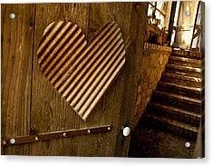A  Man's Heart Acrylic Print by David Clanton