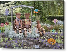 A Marine Garden Area In The Childrens Acrylic Print by Douglas Orton