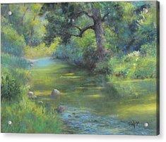 A Midsummer Day's Stream II  Acrylic Print