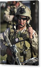 A Military Reserve Navy Seal Gives Acrylic Print