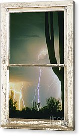 A Moment In Time Rustic Barn Picture Window View Acrylic Print by James BO  Insogna