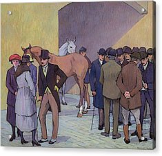 A Morning At Tattersall's Acrylic Print by Robert Polhill Bevan
