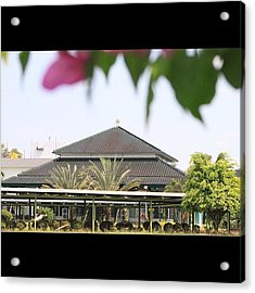 A Mosque Embraced By Nature #bahrain Acrylic Print
