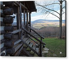 A Mountain View Acrylic Print by Robert Margetts