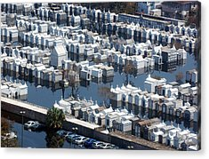 A New Orleans Cemetery Is Swamped Acrylic Print by Everett