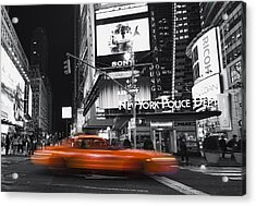 Acrylic Print featuring the photograph A New York Minute by Yelena Rozov