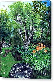 Acrylic Print featuring the painting A Nice Place To Take A Bath by Denny Morreale