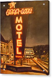 A Night At The Star-lite Motel Acrylic Print by James Guentner