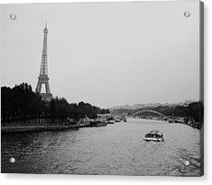A Noir Look At The Eiffel Tower Acrylic Print by Chris Ann Wiggins