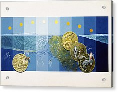 A Painting Depicts The Tiny Life Acrylic Print by Davis Meltzer