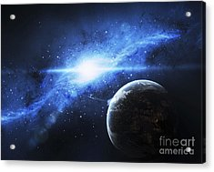 A Paradise World With A Huge City Looks Acrylic Print by Justin Kelly