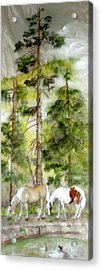 Acrylic Print featuring the painting A Peaceful Scene by Debbi Saccomanno Chan