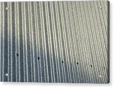 A Piece Of Metal Sheeting At A Sawmill Acrylic Print by Joel Sartore