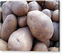 A Pile Of Large Lumpy Raw Potatoes Acrylic Print by Ashish Agarwal