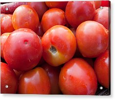 A Pile Of Luscious Bright Red Tomatoes Acrylic Print by Ashish Agarwal
