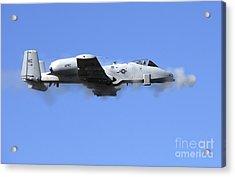 A Pilot In An A-10 Thunderbolt II Fires Acrylic Print by Stocktrek Images