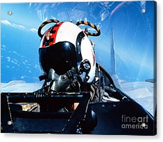 A Pilot Sitting In The Back Acrylic Print by Dave Baranek