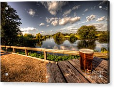 A Pint With A View  Acrylic Print by Rob Hawkins