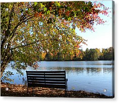 A Place For Thanks Giving Acrylic Print by Sandi OReilly