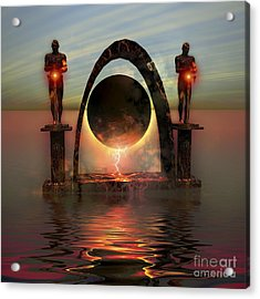 A Portal To Another Dimensional World Acrylic Print by Corey Ford