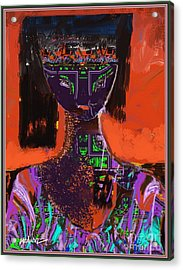 A Portrait Of A Girl Acrylic Print by Nedunseralathan R
