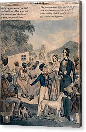 A Pro-slavery Portrayal Acrylic Print by Everett