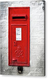 A Quaint Essential English Post Box Acrylic Print