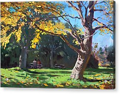 A Quiet Fall Afternoon Acrylic Print by Ylli Haruni