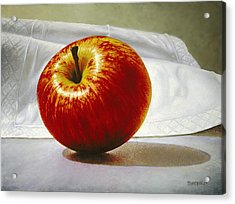 A Red Apple Acrylic Print