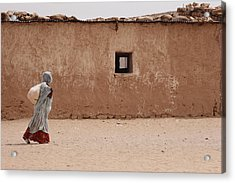 A Refugee From Western Sahara Leaves Acrylic Print by Steve Raymer