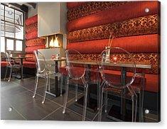 A Restaurant Interior.  Tables Acrylic Print by Corepics