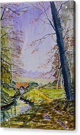 A River Flows Gently Acrylic Print by Rob Hemphill