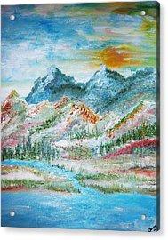 A River Runs Through  Acrylic Print by Fawn Whelahan