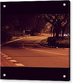 A Road To No Where, Lonely And Empty Acrylic Print