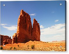 A Rock At Arches Acrylic Print by Jeff Swan