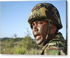 A Royal Brunei Land Force Soldier Acrylic Print by Stocktrek Images