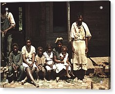 A Rural African American Family Seated Acrylic Print by Everett